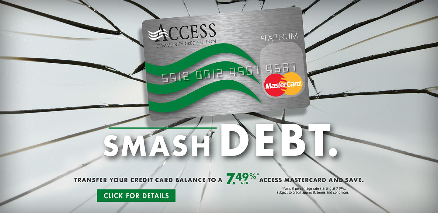image of a mastercard and balance transfer offer